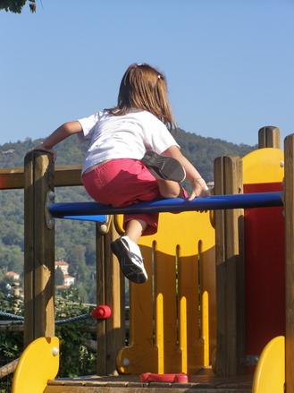 Kids fun with the playground