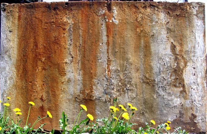 rusty concrete
