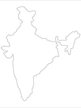 Indien-Umriß, photos, #1158103 - FreeImages.com