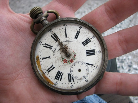free old clock of hand stock photo   freeimages