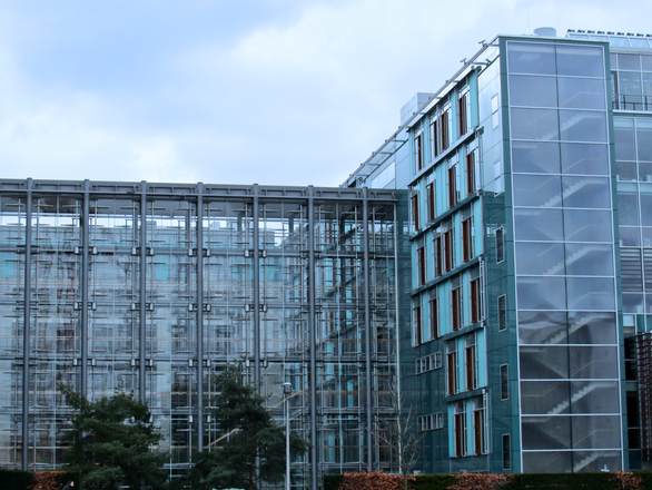 transparent glass architecture