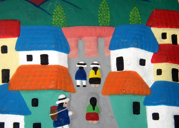ecuadorian folk art (plaque)