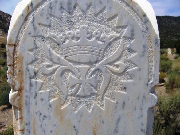 Detail of tombstone - Frisco Utah