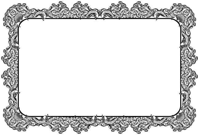 decorative retro style border or frame