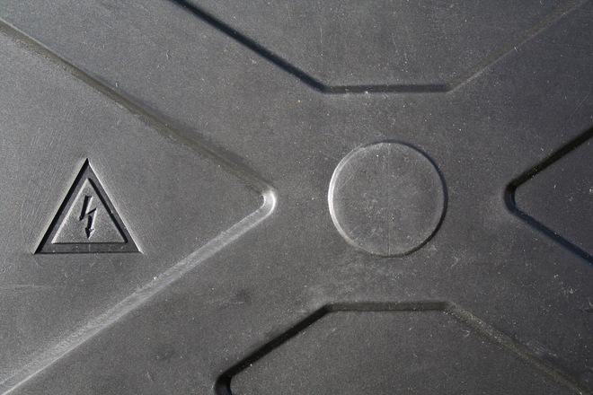 High voltage - black plastic
