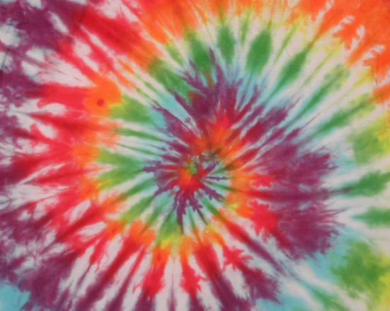 Rainbow Spiral Tie Dye Texture