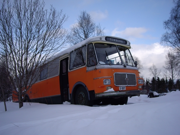 Old orange bus