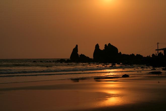 sunset at arambol goa