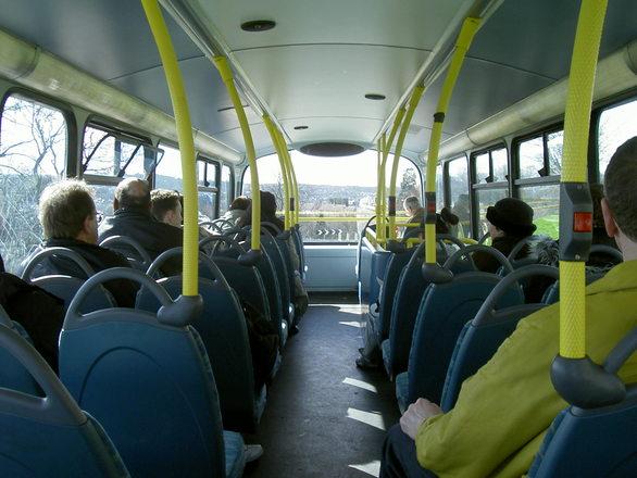 Free innen doppeldecker bus stock photo for Interno autobus