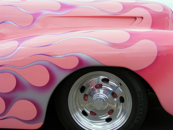 Pink Hot Rod Flames