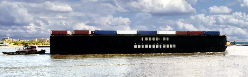 фото контейнеров на лодке