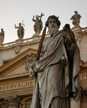 The Vatican statues