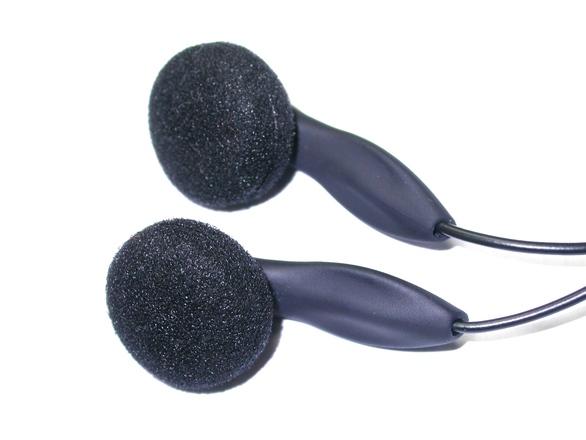 Earphones close-up 2