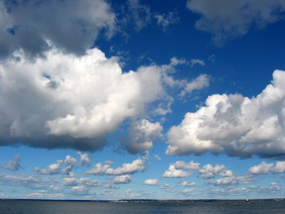 Blue Skies Of Texas >> White clouds, blue sky, free photo files, #1363049 - FreeImages.com