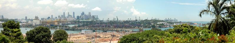 Singapore (Pan-view from Sentosa)