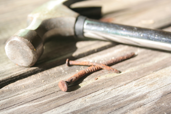 Odd Yet Crafty Uses for Everyday Tools: Pencil, Nail, and Hammer Go Together