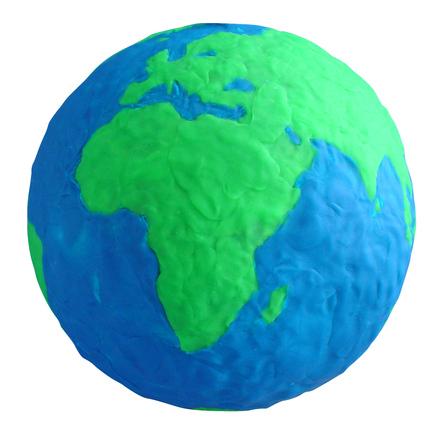 clay globe africa