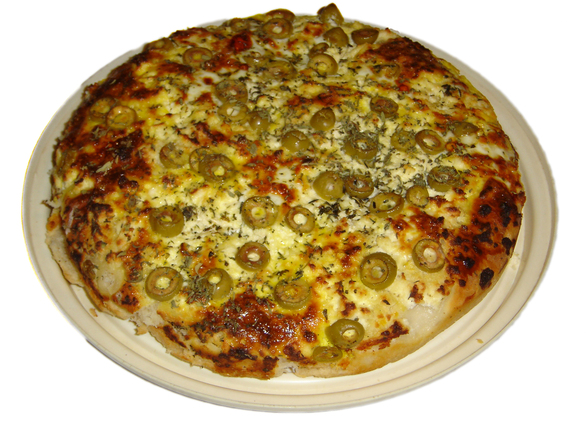 bread with olives and cheese