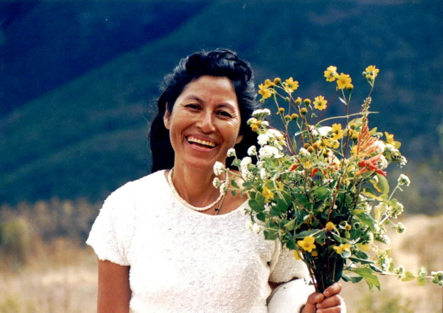 mexican woman with flowers
