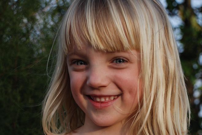 Girl smiling. 4