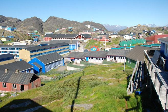 Greenland village Manitsoq