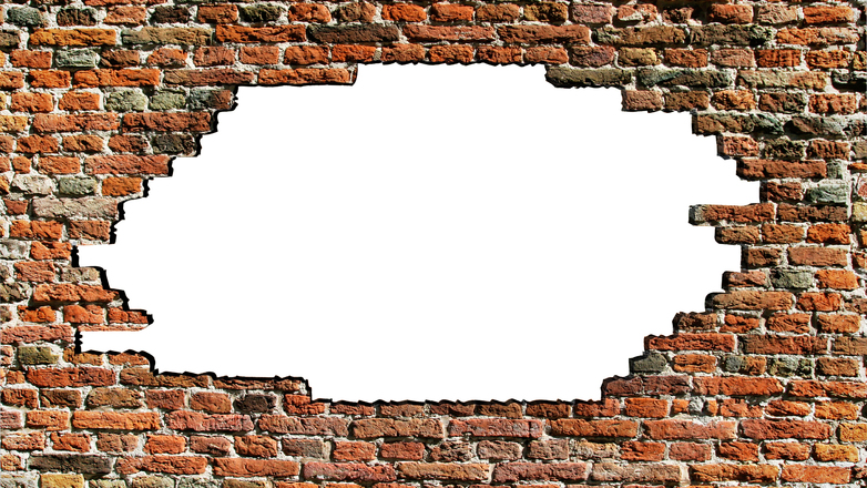 Free Brick Wall Hole 2 Stock Photo - FreeImages.com
