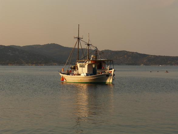 boat in Greece 1