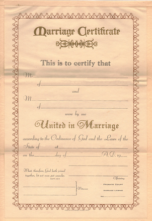 Free Vintage Marriage Certificate Stock Photo - FreeImages.com