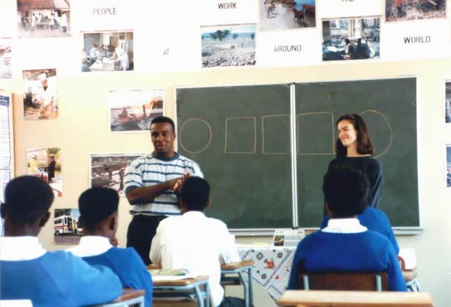 teaching high school, africa