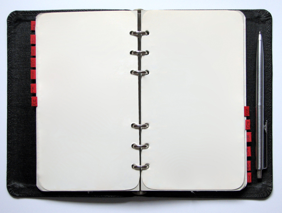 Blank diary