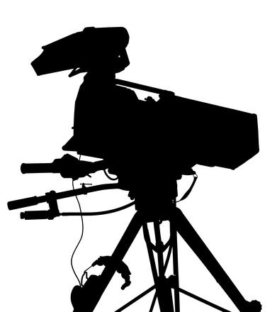 Professional camera silhouette