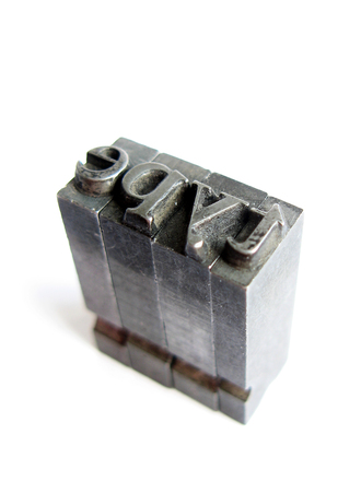 metal type from letterpress 2