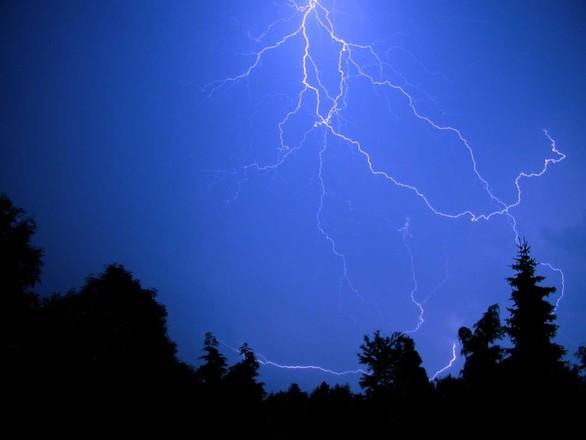 Lightning over Groesbeek
