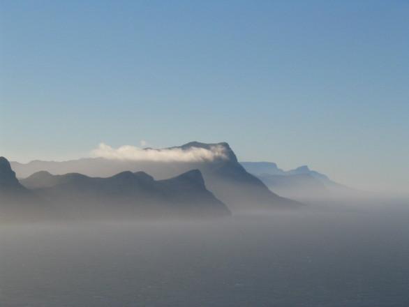 FALSE BAY MOUNTAIN RANGE IN SOUTH AFRIKA