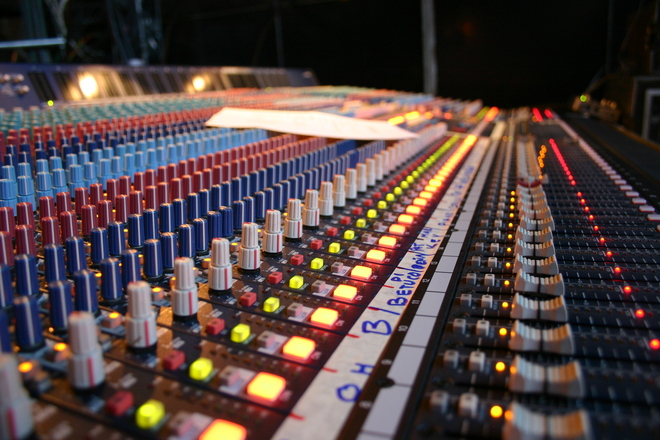 Free yamaha monitor mixing board stock photo for Yamaha mixing boards