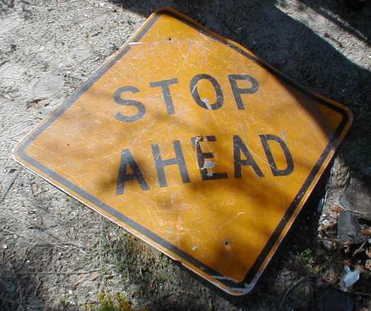 stop ahead, photograph, #1310060 - FreeImages.com