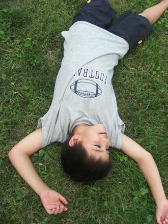 Sprawling on the Grass