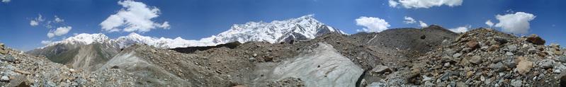 Panorama at glacier - Nanga Parbat
