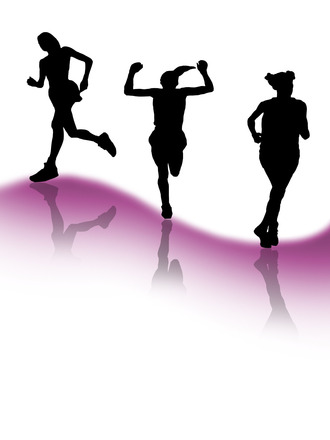 Free Runners Silhouette Woman Stock Photo Freeimages Com