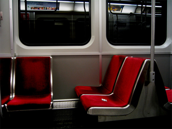 free subway seats stock photo. Black Bedroom Furniture Sets. Home Design Ideas