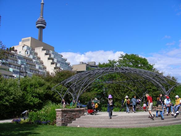 Toronto Musical Garden and CN Tower