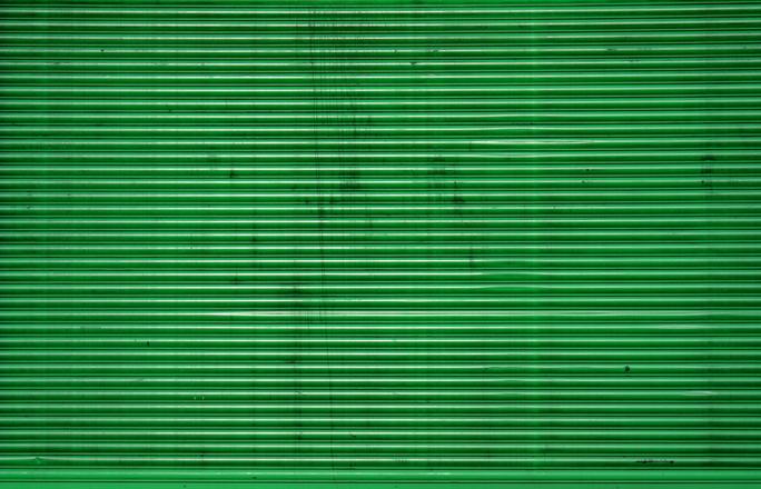 green corrugated iron