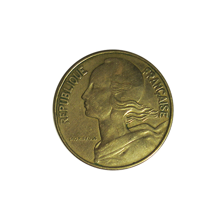 Free 1964 French 20 Centime Coin 02 Stock Photo