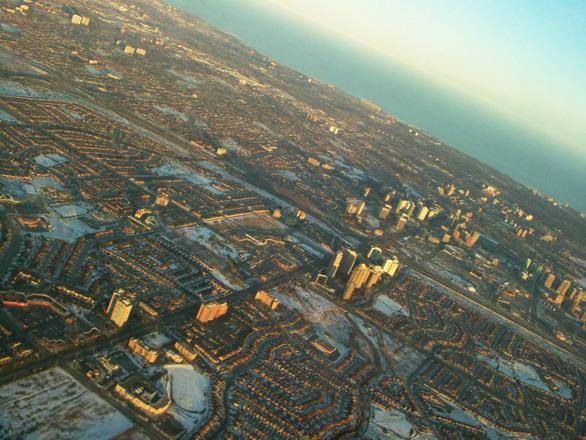 Skies over Toronto