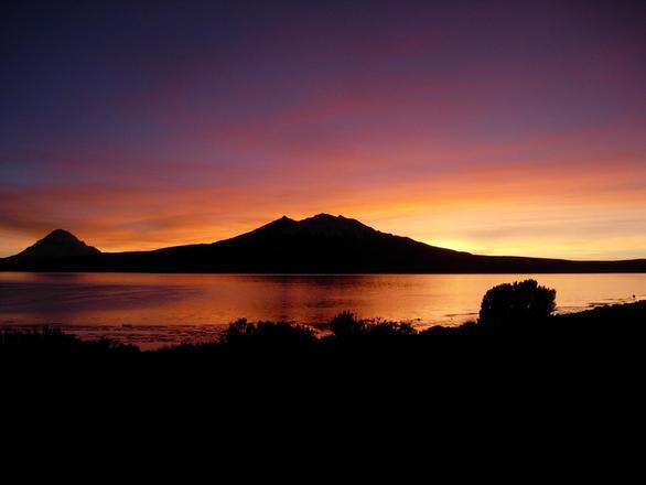 chile lauca sun rise 1