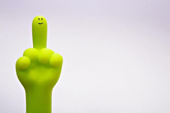 Mr Middle Finger