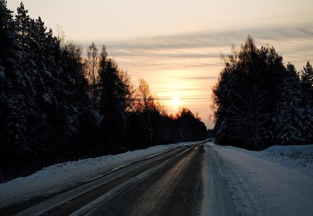 road to sunrise