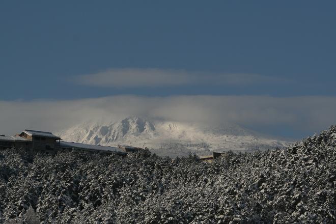 black mountain peak