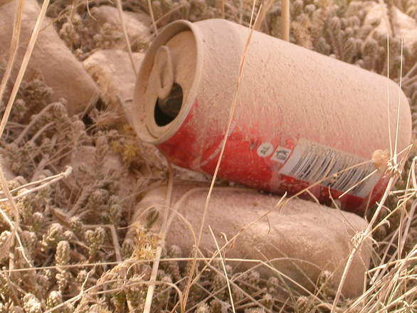 dusty coke tin