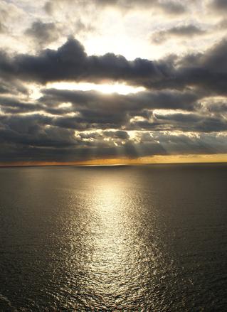 Sun rise over the sea 2